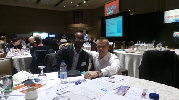 Outside sales rep Stephane Lubin and itsharristime get ready for a big day at CDDC 5
