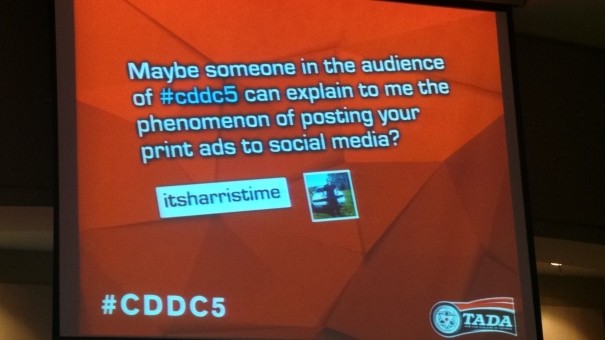 itsharristime tried to be respectful on the CDDC#5 Tweet board, but some things just had to be said